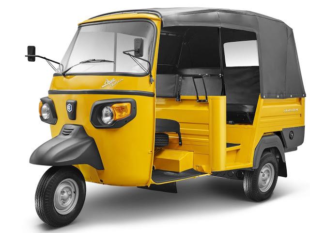 Modelos Piaggio de três rodas têm novos motores - Índia