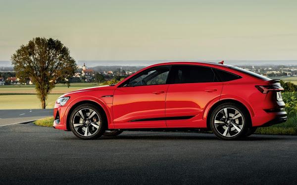 Audi e-tron: carregador CA 22 Kw - 100% carga em 5 horas