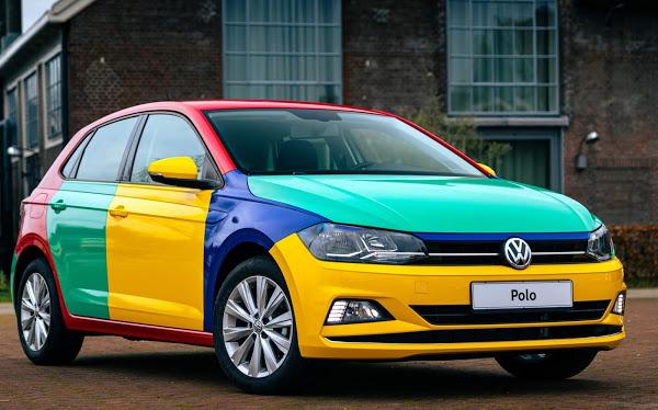 Volkswagen Polo 2021 Harlekin colorido é recriado na Holanda